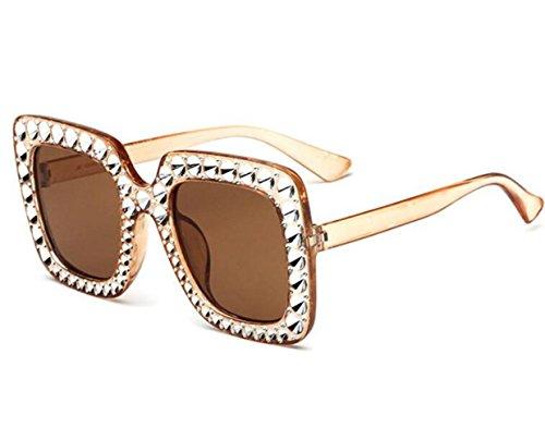de f Multicolor c Trend europeo sol americano Gafas y Gafas para mujer Frog grande Opcional sol marco RDJM estilo Mirror para de q514wUR