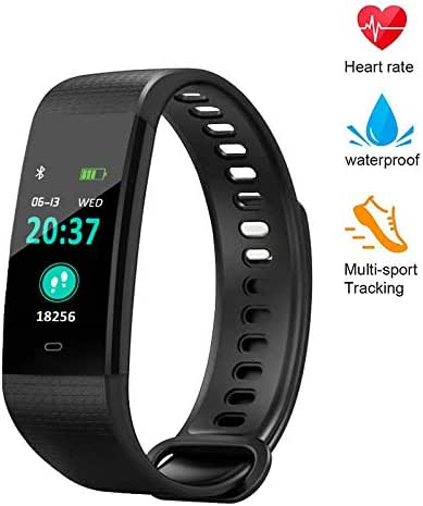YZJ Blood Pressure Monitor Watch,Color Screen Fitness Tracker with Heart Rate Blood Oxygen Monitor,Smart Wristband with Calorie Counter Watch Pedometer Sleep Monitor