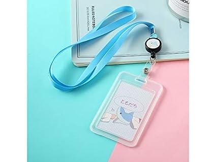 1ef39b615573 Amazon.com: Gelaiken Keyring ID Cute ID Card Holders Shark Bus Pass ...