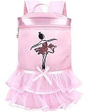 Balettryggsäck, barn balett dans satin ryggsäck ballerina flicka paljetter axelväska ballerina ryggsäck (#1)