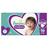 Pampers Diapers Size 5, Cruisers Disposable Baby Diapers, 112 Count, Super Economy Pack (Packaging May Vary)