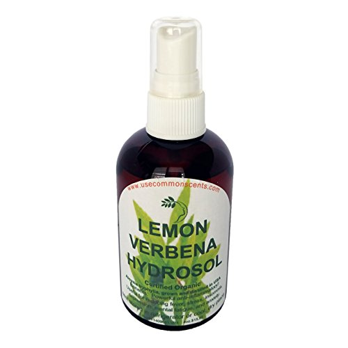 Lemon Verbena Hydrosol, Certified Organic 4 Ounces by UseCommonScents