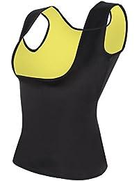 Women's Hot Sweat Slimming Neoprene Shirt Vest Body Shapers For Weight Loss No Zipper Black