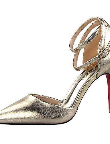 GGX/ Damen-High Heels-Lässig-Kunstleder-Stöckelabsatz-Komfort / Spitzschuh / Geschlossene Zehe-Schwarz / Weiß / Silber / Gold / Champagner black-us6 / eu36 / uk4 / cn36