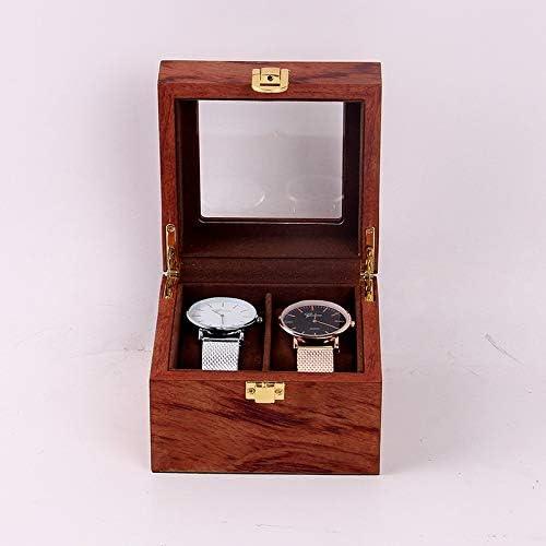 MHZ Watch Box 2 Gitter, hölzerne Uhr Storage Box-Uhr Schmuck Armband Fitness Tracker Series Smart Watch Vitrine