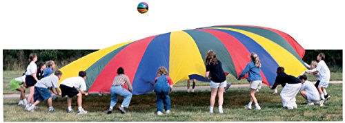Sportime GripStarChutes Parachute 4-Layer Construction and 22 Handles- 24 foot Diameter]()