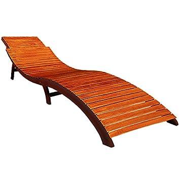chaise longue pliante transat bain soleil forme ergonomique - bois ... - Chaise Longue Jardin Bois