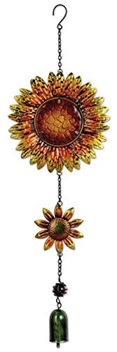 "Sunset Vista Designs 14166 Hanging Decoration Garden Bell, 26"", Sunflowers"