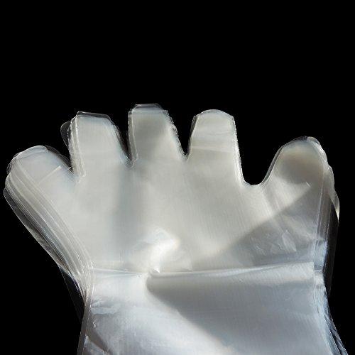 Lucky Farm 50Pcs Disposable Soft Plastic Film Gloves Transparent Long Arm Veterinary Examination Artificial Insemination Glove by Lucky Farm (Image #3)