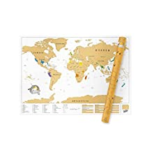 Luckies of London Scratch Map Xl Extra Large Personalized World Map Poster