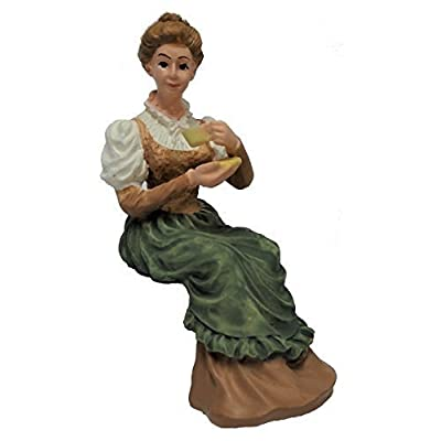 Melody Jane Dollhouse Victorian Lady Sitting w Cup Tea People Resin Figure: Toys & Games