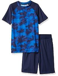 Spotted Zebra boys Active Short-Sleeve Tee and Shorts Set Shorts Set