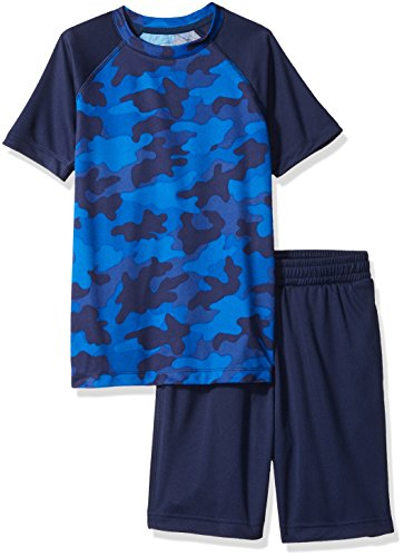 Amazon Brand - Spotted Zebra Boys Active Short-Sleeve T-Shirt and Shorts Set