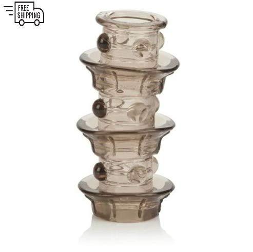 Beaded Pleasure Ring - Triple Stacker Beaded Girth Ring Enhancement Enlarger Male Sleeve Extender for Pleasure