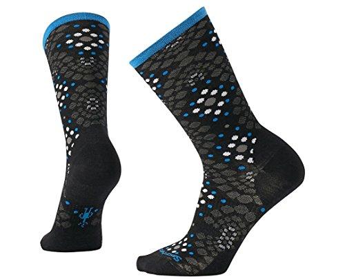 Smartwool Women's Pompeii Pebble Crew Socks (Black) Large