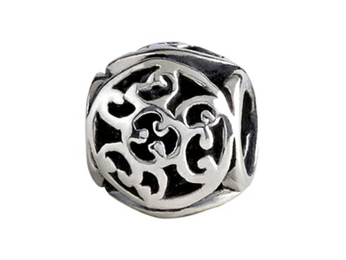 SilveRado Sterling Silver Celtic Spiral Celts Bead / Charm (Silverado Bead Charm)
