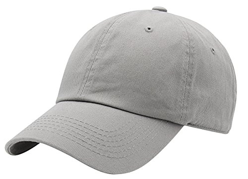 AZTRONA Baseball Cap for Men Women - 100% Cotton Classic Dad Hat, LGY Light Grey