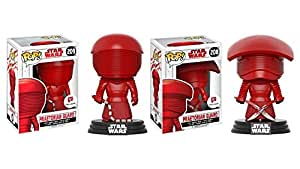 Funko Pop! Star Wars: The Last Jedi Praetorian Guards Exclusive Bundle with Whip #209 and with Dual Swords #208