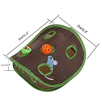 Amazon.com : Best Quality cat Tunnel Foldable pet cat Toys Educational Toys Mouse Hole Cats Catch Funny Ball Bells pet Supplies : Pet Supplies