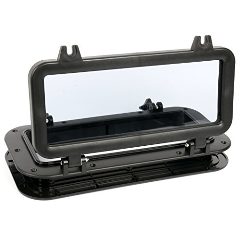 Amarine-made-Boat-Yacht-Rectangle-Opening-Portlight-Porthole-16-X-8-Replacement-Window-Port-Hole-ABS-Black-Tempered-Glass