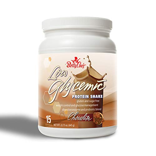 Betty Lou's Chocolate Low Glycemic Protein Shake, 22.75 Ounce