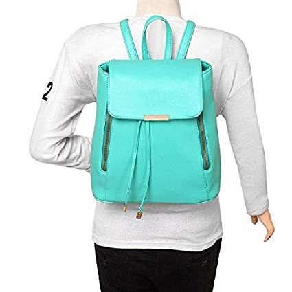 6314cc8a02e1 Buy Cherry Bags Girls Green PU Cadence Backpack Online at Low Prices in  India - Amazon.in