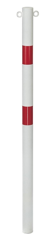 2 /Ösen wei/ß zum Einbetonieren/Ø60//1000 2refl.R GAH-Alberts 782481  Absperrpfosten Standard SK