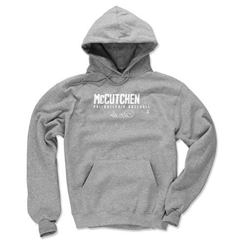 (500 LEVEL Andrew McCutchen Philadelphia Baseball Hoodie Sweatshirt (XX-Large, Gray) - Andrew McCutchen Elite W WHT)