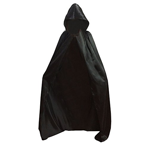 Easy Larp Costumes (Qiancheng Unisex Halloween Hooded Robe Cloak Cape Witch Devil Cosplay Costume)