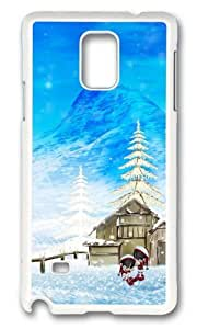 MOKSHOP Adorable Happy Winter Christmas Hard Case Protective Shell Cell Phone Cover For Samsung Galaxy Note 4 - PC White