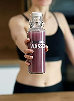 * Bundle - Spare 9,89 euros * soulbottle 0,6L Botella de cristal + veganz superberries proteína Shake + 3 x Acero Inoxidable Licuadora bolas - Diseño