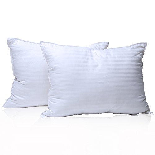 Pillows for sleeping 2 pack Queen size 20x30 inch – Set of 2 Bed Pillows – Best Hotel Pillows - Soft Hypoallergenic Material - Plush Gel-Fiber–Warranty–White (Advantage Set Bed)