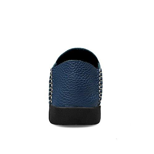 Minitoo Boys Mens Spring Casual Slip-Ons Lightweight Loafers Dark Blue