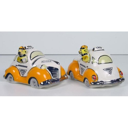 Taxi Cookie Jar (Henry Cavanagh Spike's Taxi Car Salt and Pepper Shakers)