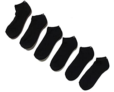 Calvin Klein Low Cut Ankle Socks Casual Day All Sport Cushioned Athletic- 6 PAIR (Black)