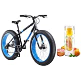"""Mongoose 26"""" Hitch Men's All-Terrain Fat Tire Bike with Bottle (Black/Red)"""