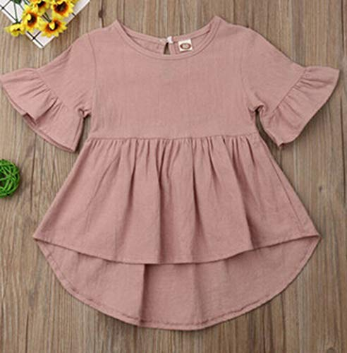 - Fashion Cute Summer Toddler Baby Girls Clothes Flare Dress Kids Girl Solid Clothing Infant Dresses 3T