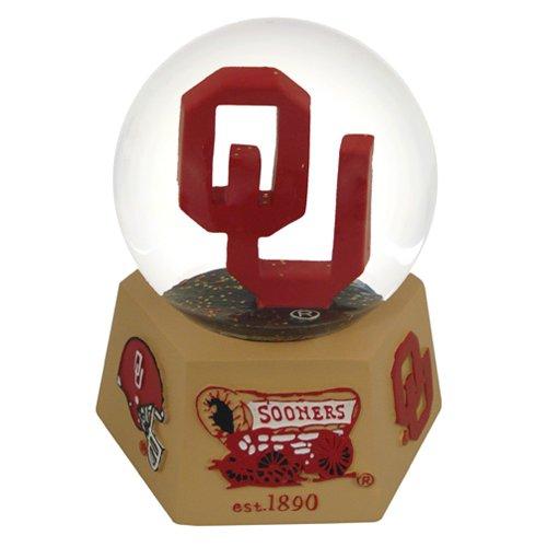NCAA Oklahoma Sooners Logo Musical Snow - Water Globe Musical College