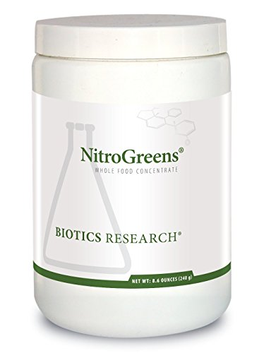 Biotics Research NitroGreens Powdered Formula, Organic Phytonutrient Blend, Sourced from Heirloom Seeds, Isoflavones, Polyphenols, Natural Carotenoids, Betalains, Glucosinolates. 8.6 oz
