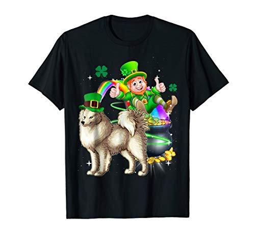 Leprechaun American Eskimo Dog T Shirt St Patricks Day -