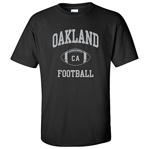 Oakland Classic Football Arch Basic Cotton T-Shirt, used for sale  Delivered anywhere in USA