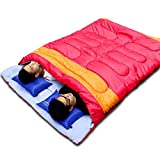 May Rain New Practical Couple Double Person Sleeping Bag Outdoor Camping Adult Sleeping Bag,red,China