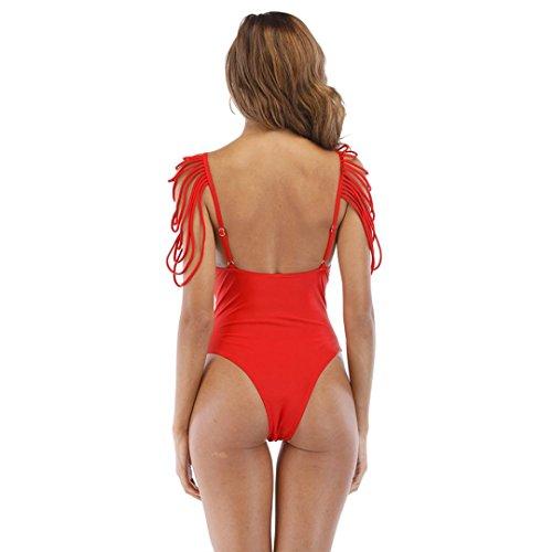 Costumi up Donna Coordinati Rosso Intero Bagno Schienale Imbottito Push Bikini Da Mare Bagno Beachwear Reggiseno Beautyjourney Interi Push Costume Con Up nPxR156