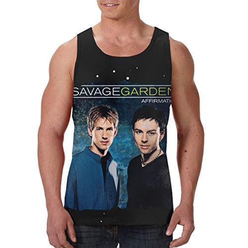 AvisN Men's Savage Garden Affirmation Training Vest Tank Top Tee L Black (Savage Garden Shirt)
