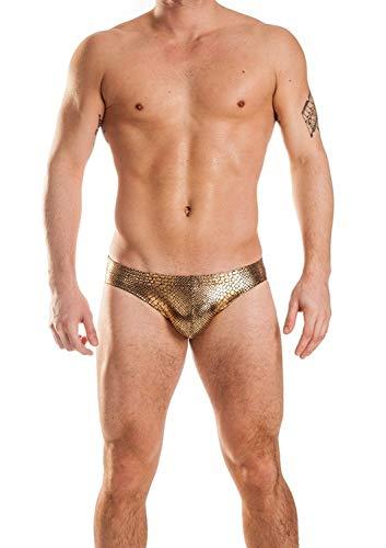 (Gary Majdell Sport Mens Gold Anaconda Counter Pouch Bikini Swimsuit Size)