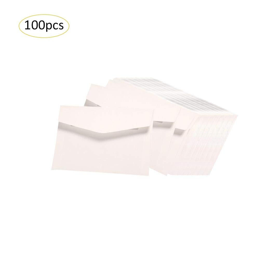100pcs Paper Envelopes Vintage Envelopes Gift Card 5X 7 Inches for Wedding Birthday Baby Shower Graduation Christmas Seatechlogy