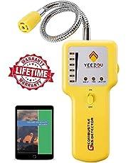 Propaan en Aardgas Lekdetector; Draagbare Gasdetector om gaslekken van Brandbare Gassen zoals methaan, LPG, LNG, brandstof, rioolgas te lokaliseren; Gasmelder met Flexibele sensorhals, geluid & LED-alarm