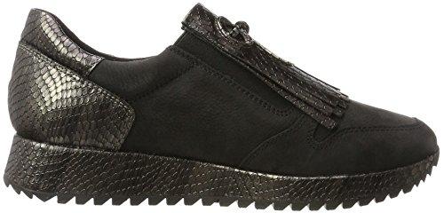 pewter Femme Sneakers Tamaris blk 24701 Noir Basses Str UwYAAtq8g