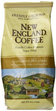New England Coffee - Cinnamon Hazelnut - 11 Ounce Ground ( Pack of 3 -