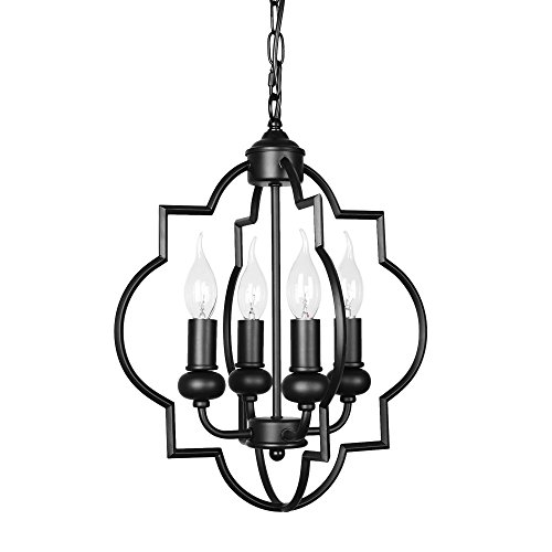 endant Lighting 4-Light Chandelier Retro Lantern Ceiling Light Fixture ()
